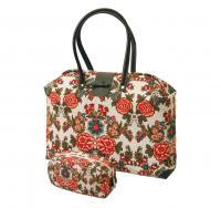 Väska och necessär, Kulla, från Durán textiles