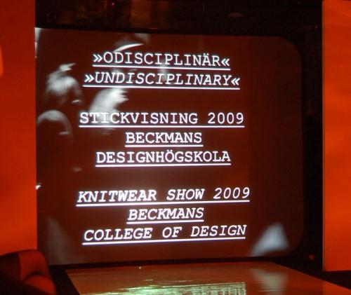 Snygg grafisk profil och intressant innehåll, Beckmans visning Odisciplinär var sevärd. (Foto Frida Engström)