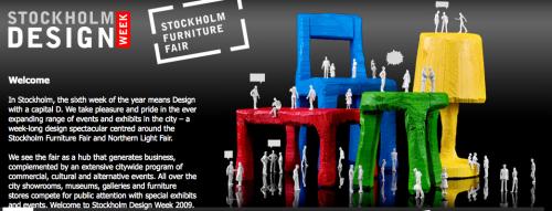 Stockholm Design Week pågår just nu.