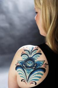 Jenny Berglunds tatuering (foto: Stina Rapp, Dalarnas tidningar)