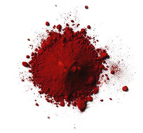 Pigment till röd falufärg. (Foto www.gysinge.nu)