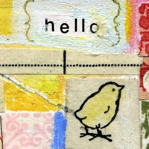 Tryck av Sarah  5 x 5 centimeter, på Poppytalk Handmade (Foto www.etsy.com)