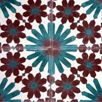 Klassiskt kakel från Marrakech; blomma. (Foto www.marrakechdesign.se)