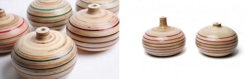 Brittiska Sarah Thirwell gör dessa vackra vaser i plywood. (Foto www.sarahthirwell.com)