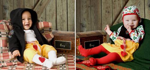 Emy Littles mjukisfolkdräkter för bäbisar. Foto Lillemor Kax