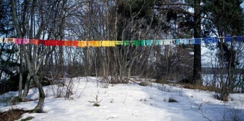 Att klädnypor kan bli så visuella! Verk av finska konstnären Anu