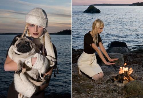 Heart of Lovikka, ett nytt märke med kläder inspirerade av Lovikkatraditionen. (Foto Jenny Groth)