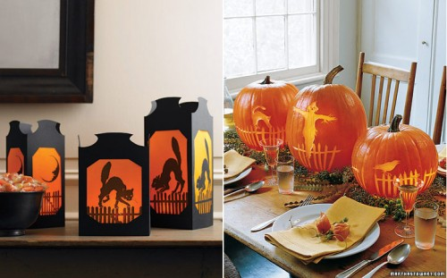 Martha Stewarts Craft of the Day-tips kring Halloween. Bilderna är hämtade från www.marthastewart.com.