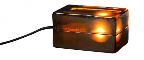 Harri Koskinens numera klassiska blocklampa. (Foto Röhsska museet)
