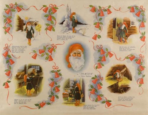 Julklappspapper, årtalet okänt. (Foto Peter Segemark, Nordiska museet)