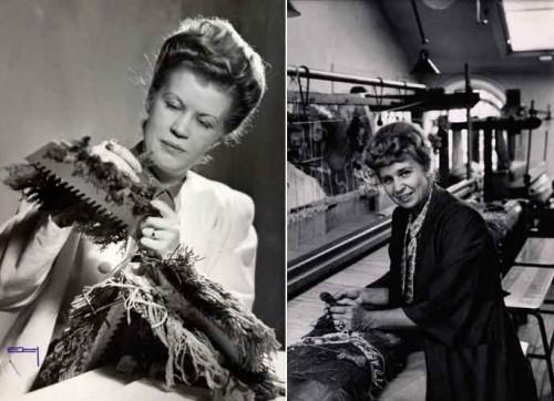 Astrid Sampe till vänster, och Edna Martin till höger. Foto SVT)