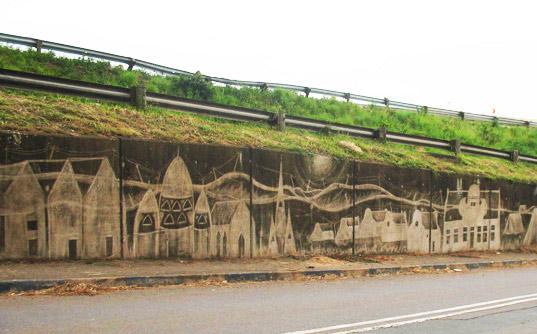 Städgraffiti från Sydafrika. (Foto Inhabitat.com)