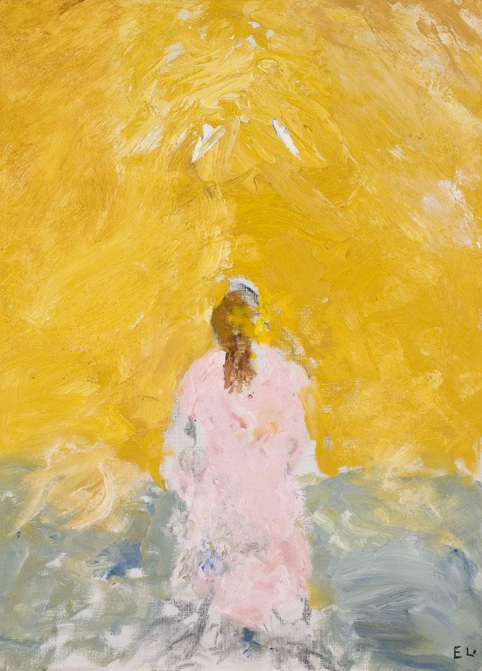 Evert Lundquist, Flicka med gul fond I 1983 © Evert LundquistPrivat