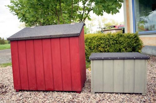Utefäörvaring från Örnahusens snickeri, form Anna Agger, snickeri Pelle Larsson. (Foto Hedda Rabe)