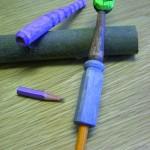 Dagens tips på 365 saker du kan slöjda - gör din egen pennförlängare. (Foto www.365slojd.se)
