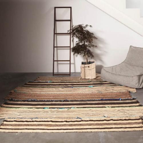 Hundraåriga mattor av turkiska nomader får ny användning i Rugcycles kollektion. (Foto www.rugcycle.se)