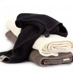 Stickade handdukar i lin från Iris Hantverk, av Margot Barolo och Ulrika Mårtensson. (Foto Iris Hantverk)
