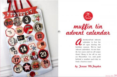 Från bloggen Inspire co kommer webbtidningen med julpyssel. Här finns ett snyggt tips på adventskalender. (Copyright http://inspireco.blogspot.com/2010/11/inspired-ideas-christmas-issue.html)