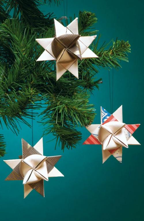 Vik stjärnor till granen eller till julbordet. (Foto www.hemmetsjournal.se)