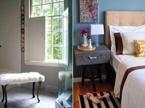Bland årets topplista av DIY-projekt på Apartment Therapy finns den här nya pallen till vänster och den nya sänggaveln till höger. (Foto www.apartmenttherapy.com)