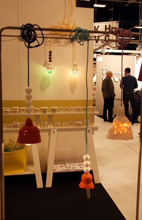 Keramiklampor av Elisabeth Billander. (Foto Kurbits)