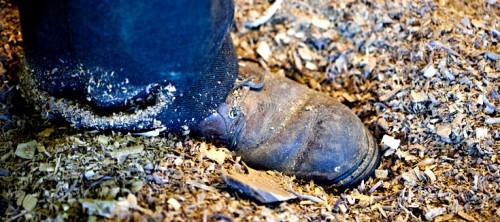 I verkstan. (Foto Rose Callahan /www.rosecallahan.com)