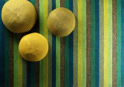 Kasthalls nya matta Happy lurar ögat och ser ut som en trasmatta tycker jag. (Foto Kasthall)