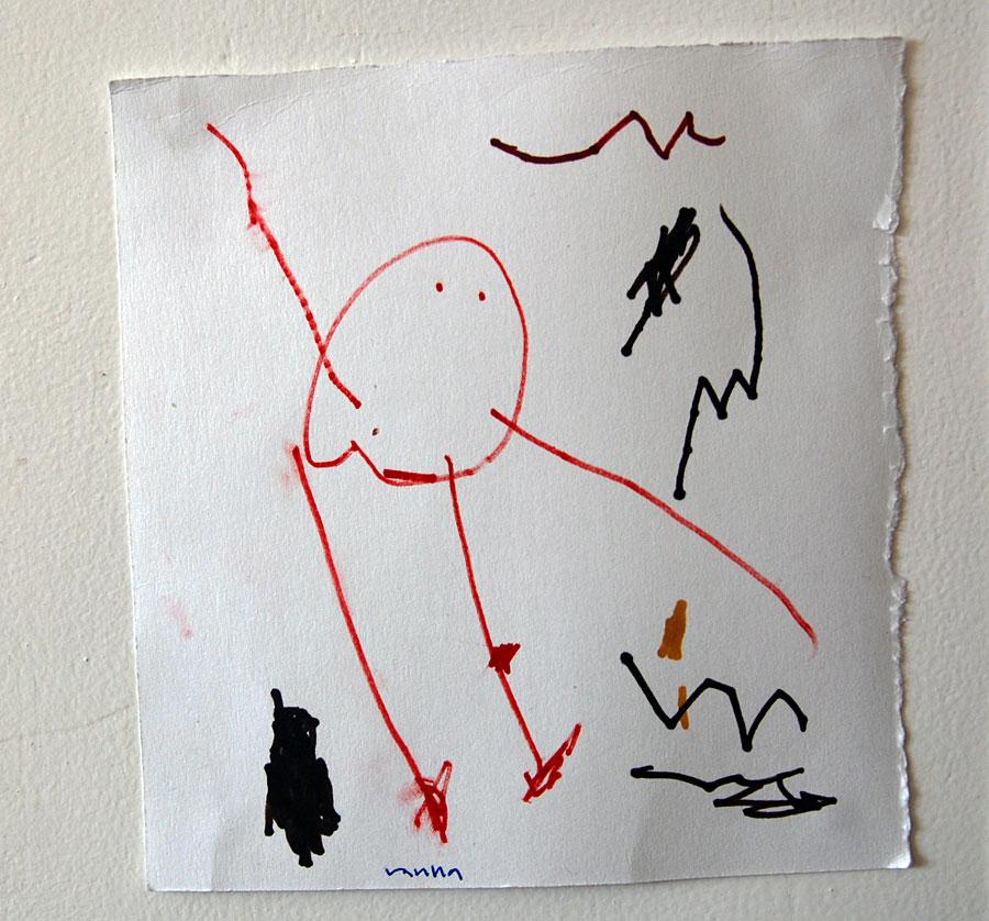 En broderad teckning på enkelt vis Kurbits din
