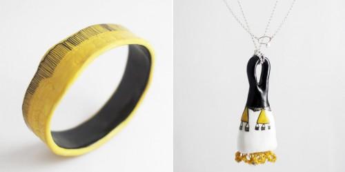 Armband och halsband från Golden Ink. (Foto www.goldenink.com.au)