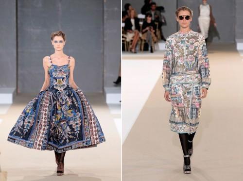 Dalmålaren Slotts Barbro från Fjäkelmyra har försett franska modehuset Rochas med kurbits i vår. (Foto www.rochas.com)