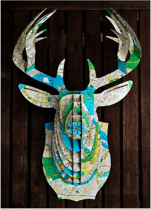 Din trofé från Cardboard Safari går att få hur som helst. Bara fantasin sätter stopp som det ju så fint heter. (Foto www.honestlywtf.com)
