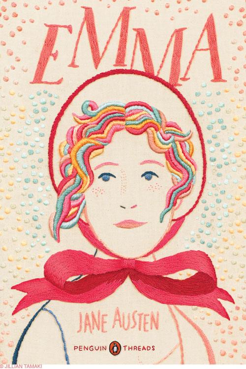 Jillian Tamaki broderar omslag till klassiker från Penguin Books. (Foto http://blog.jilliantamaki.com)