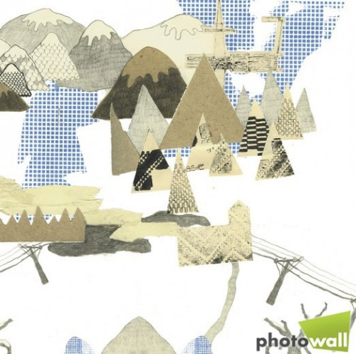 Detalj, Nature Collage. (Anna Backlund/Photowall)