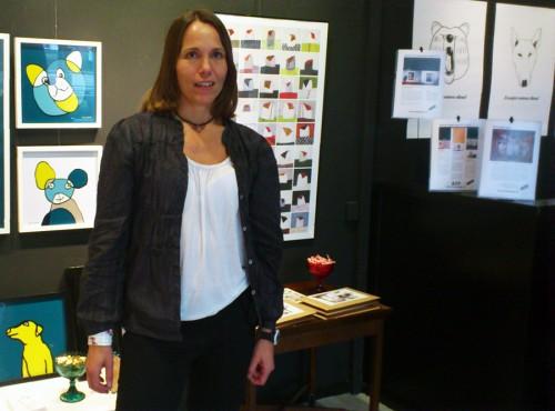 Anna Björnström, driftig ägare av Hoppa Hage och illustratör. (Foto Kurbits)