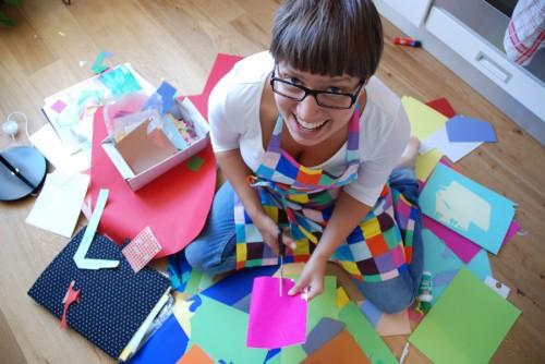 Karin själv i full action. (Foto Karin Ahlin)
