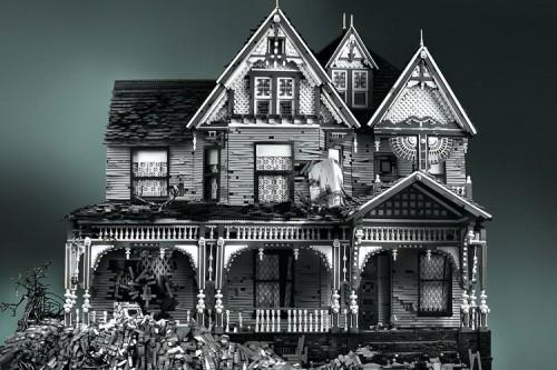 Victorian on Mud Heap, Legobygge och fotografi av Legokännaren Mike Doyle. Läs mer på Zickerman idag. (Foto Mike Doyle)