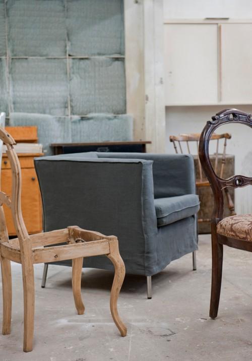 Klappsta goes loose fit - vårnyheter från Bemz med klädslar till Ikeamöbler som har lösare passform. (Foto Bemz)