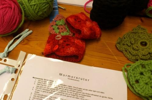 På Happy Color i Stockholm kan man gå virkkurs och lära sig virka mormorsrutor. (Foto Kurbits)