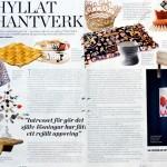 Jag är intervjuad om slöjd, kreativitet och pysseltrenden i senaste numret av Plaza Interiör.