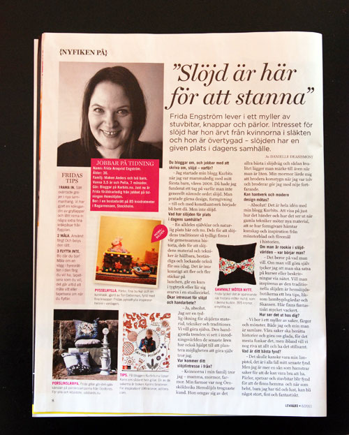 Expressen Leva och Bo, nr 6, 12-13 februari 2011