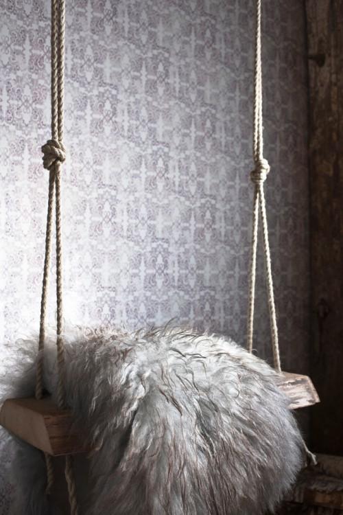 Silversmidet från Sala i tapeten med samma namn, från Decor Maison. (Foto Daniela Ferro)