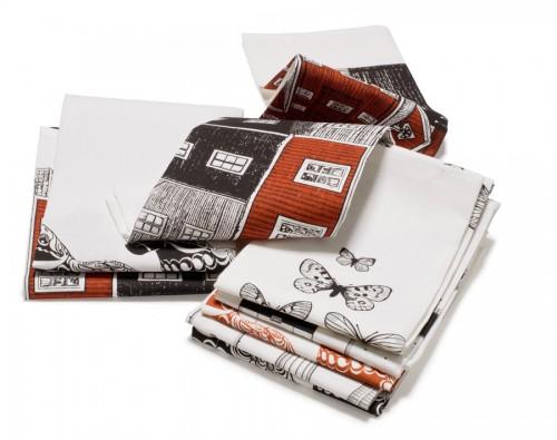 Handdukar, brickor och disktrasor ingår i Viltra Designstudios produktion. (Foto Vitra Designstudio)