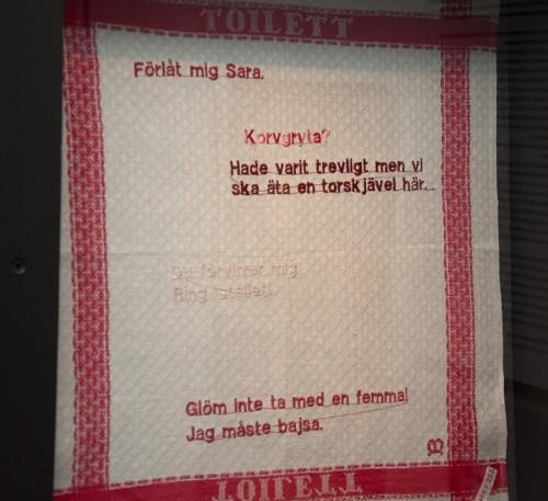 Verk som ingår i folkkonstutställningen på Kulturen i Lund, i delen Märk väl. (Foto Kalle Forss)