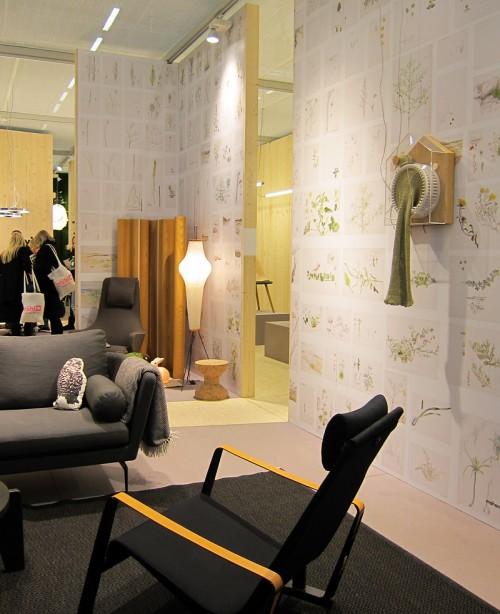 Mycket roligt att hitta den detaljen på väggen i Vitras monter på möbelmässan. (Foto Kurbits)