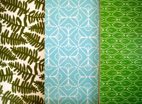 Skärbrädor med mönster av Mirjam Korn. (Foto Mirjam Korn)