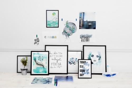 Tavlor från Nordic Design Collectives formgivare. (Foto Jenny Unnegård)