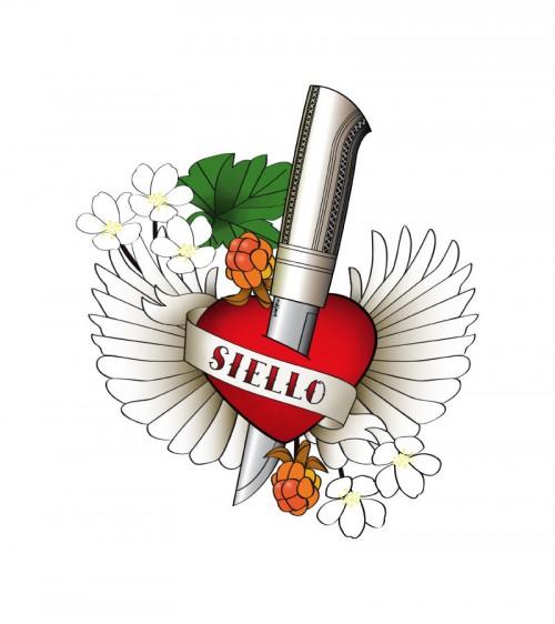 Väggdekoration av Ann-Sofie Jonsson. Siello betyder själ på lulesamiska. (Foto Miessi Design)