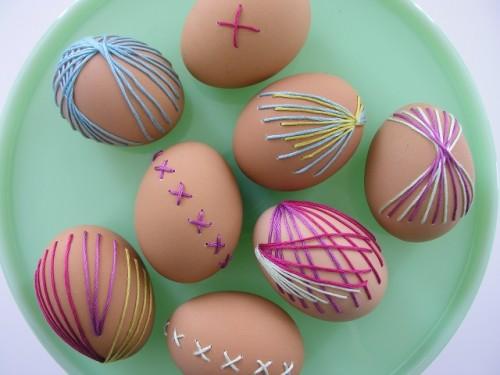 Brett Baras broderade ägg. (Foto Brett Bara)