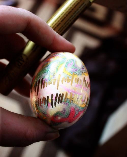Och målat med guldpenna - ååh, genialiskt! (Foto Aunt Peaches)