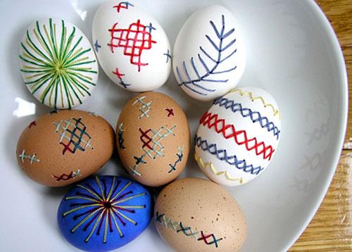 Crafts broderade ägg. (Foto Craft)